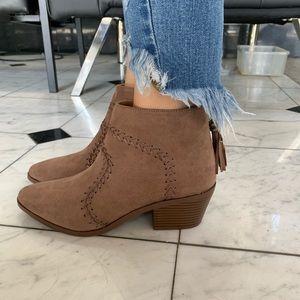 Shoes - Nutmeg Montana Western Tassels Stitch Bootie